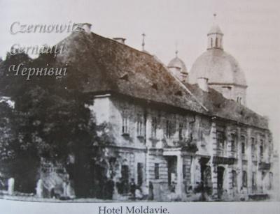 """Про Чернівці в старих фото. Готелі. Готель """"Moldavie""""."""