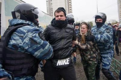 У Москві жорстоко розігнали націоналістів, які вийшли проти Путіна та війни з Україною