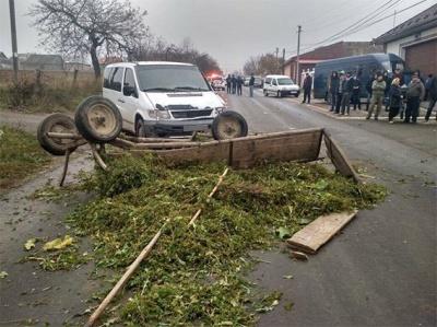 На Буковині підвода врізалась у мікроавтобус: двох осіб госпіталізували (ФОТО)