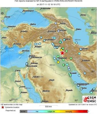 Потужний землетрус стався неподалік від кордону між Іраном та Іраком