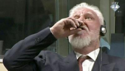 У Гаазькому трибуналі хорватський генерал випив отруту після оголошення вироку (відео)