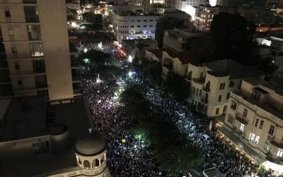 """У Тель-Авіві відбувся """"марш ганьби"""" проти корупції прем'єр-міністра"""