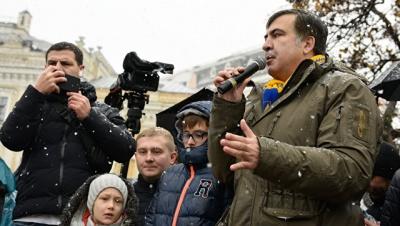 """Саакашвілі назвав наметове містечко біля Ради """"новою Січчю"""""""