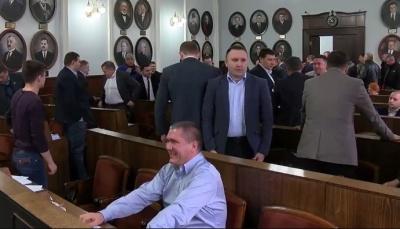 Черновицкий горсовет осудил попытку задержания силовиками Саакашвили