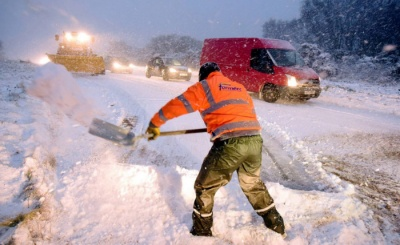 Сніговий шторм накрив Британію