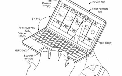 Microsoft розкрила дизайн свого складного гаджету в патентному зображенні