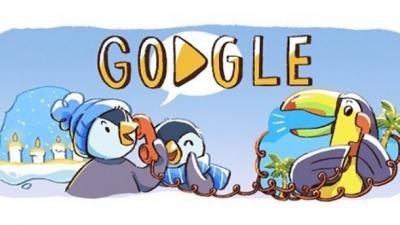 Google запустив дудл до новорічних свят