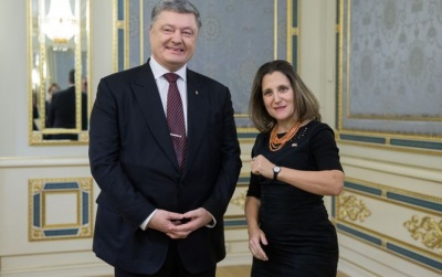 Фріланд в Києві: Канада дала Україні $8 млн на Донбас