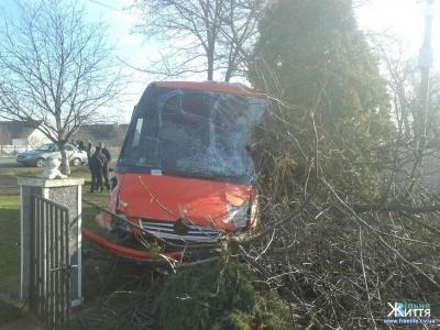 ДТП на Буковині: маршрутка знесла паркан і зупинилася на подвір'ї (ФОТО)
