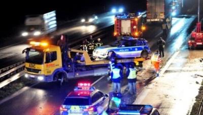 У Німеччині українська фура протаранила поліцейське авто