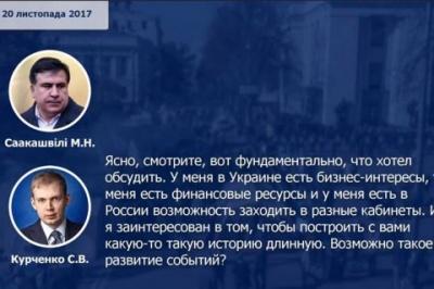 Експертиза підтвердила справжність голосів Саакашвілі і Курченка на запису