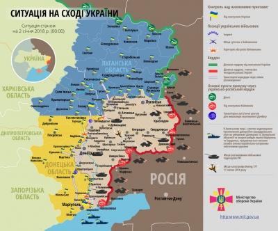 Доба в АТО: 1 січня загинув український військовий