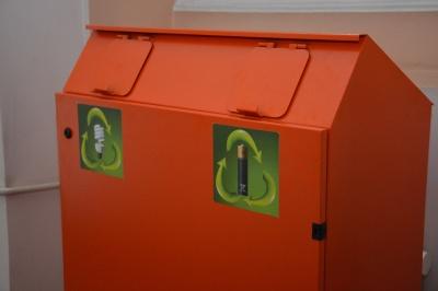 У Чернівцях встановили перші еко-бокси для використаних батарейок і ламп