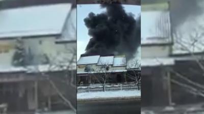 У Чернівецькій області сталася масштабна пожежа на станції техобслуговування (ВІДЕО)
