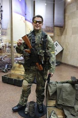 У Києві представили воскову фігуру «кіборга» з Чернівців