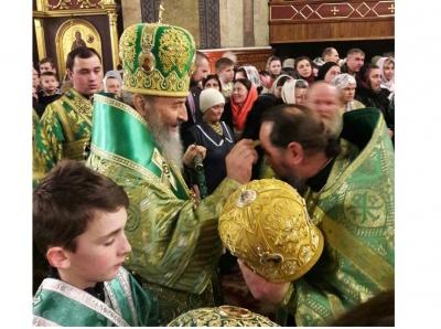 Митрополит Онуфрій очолив службу в Свято-Духівському кафедральному соборі Чернівців