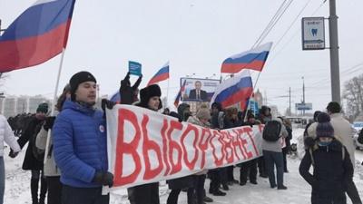 На масові протести проти виборів у Росії вийшли більше 5 тисяч людей