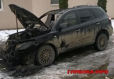 На Буковині невідомі підпалили легковик: автівка відновленню не підлягає
