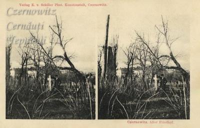 Про Чернівці в старих фото. Кладовище на нинішній вул.Л.Українки