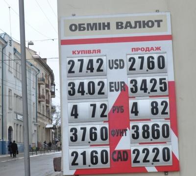 Курс валют у Чернівцях на ранок 6 лютого (ФОТО)
