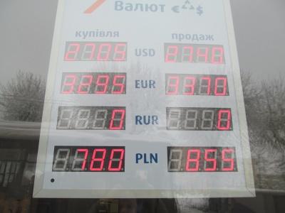 Курс валют у Чернівцях на ранок 9 лютого (ФОТО)