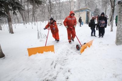 Мерія Чернівців закликала не викидати сніг із тротуарів на дороги