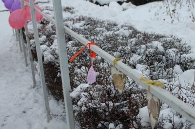 У центрі Чернівців волонтери встановили «арку закоханих»