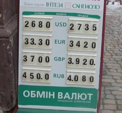 Курс валют у Чернівцях на 16 лютого (ФОТО)