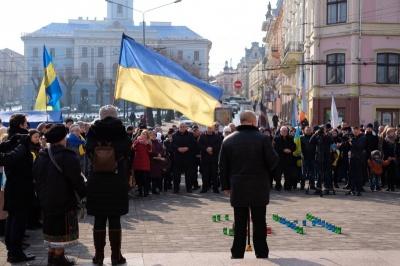 Сьогодні у Чернівцях на Центральній площі вшанують Героїв Небесної сотні