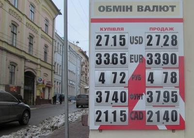 Курс валют у Чернівцях на 19 лютого (ФОТО)