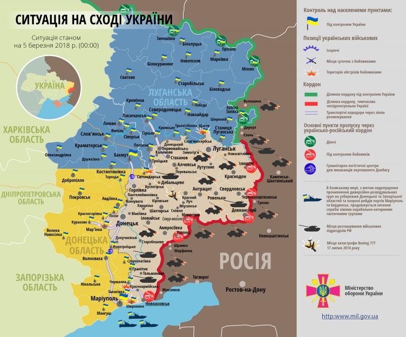 Штаб АТО: НаДонбасі поранено українського бійця