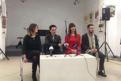 «Ми переможемо»: у Чернівцях італійський співак презентував пісню, яку він присвятив Україні