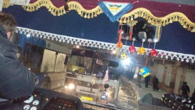 У центрі Чернівців заблоковано рух транспорту через раптове погіршення погоди (ФОТО)