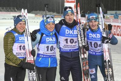 Збірна України з біатлону виграла срібло на етапі Кубка світу