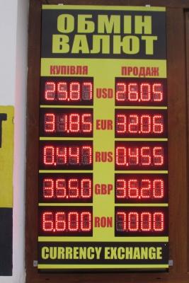 Курс валют у Чернівцях на 13 березня (ФОТО)