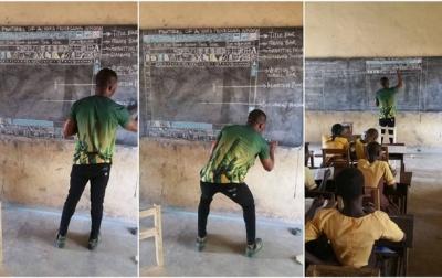 Африканець прославився, викладаючи Microsoft Word на дошці