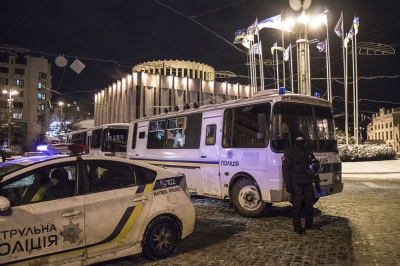 Активісти Руху нових сил заявили про затримання під час установки сцени для недільного маршу в Києві