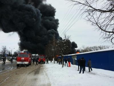 Рятувальники уточнили площу пожежі на Калинівському ринку в Чернівцях