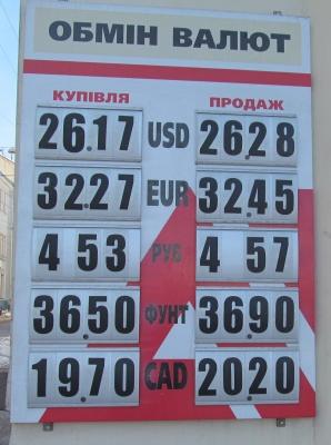 Курс валют у Чернівцях 22 березня (ФОТО)