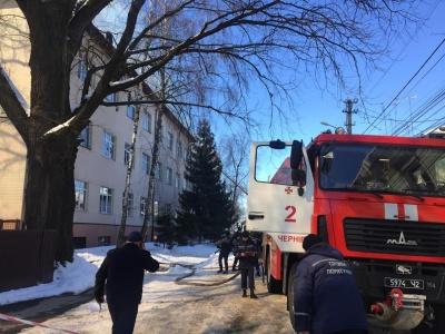 У Чернівцях рятувальники ліквідували пожежу в транспортному коледжі