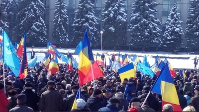 У Кишиневі мітингували за об'єднання Молдови та Румунії