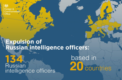Британський МЗС: Вже понад 20 країн висилають російських дипломатів