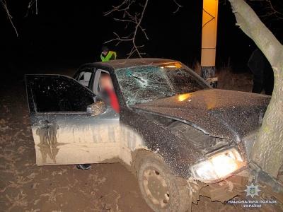 У Чернівецькій області легковик врізався у дерево: загинув пасажир