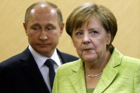Меркель обговорила зПутіним ситуацію вСирії