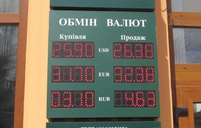 Курс валют у Чернівцях на 5 квітня  (ФОТО)