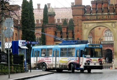 У Чернівцях тимчасово припинили курсувати тролейбуси двох маршрутів