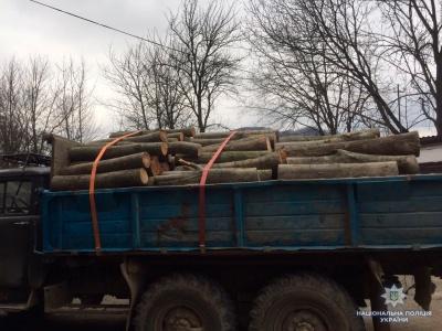 На Буковині поліція затримала чоловіка, який викрав з лісництва деревину