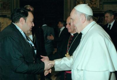 Священик з Чернівців зустрівся з Папою Римським