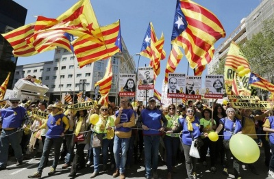 У Барселоні протестують проти арештів лідерів Каталонії