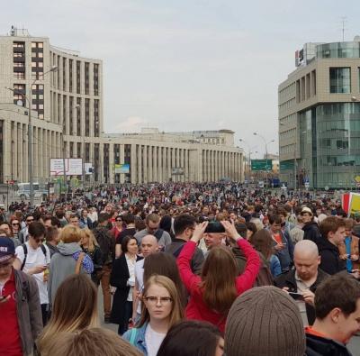 У Москві кілька тисяч людей зібралися на мітинг на підтримку Telegram